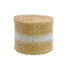 Load image into Gallery viewer, Natural Jute Burlap Lace Ribbon