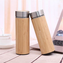 Load image into Gallery viewer, Bamboo Travel Thermos - Meraki Cole Company