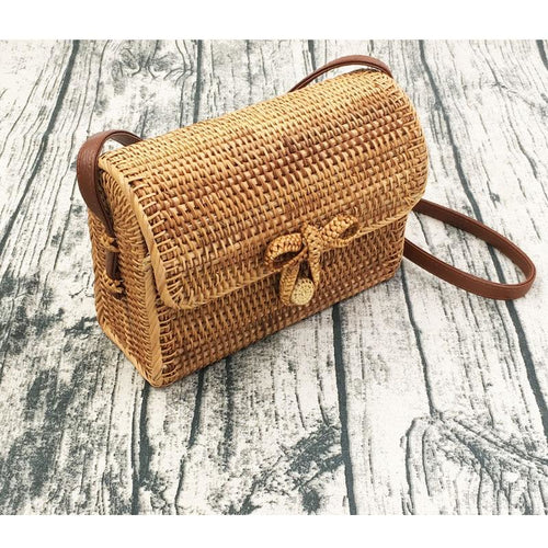 Bohemian Rattan Shoulder Bag - Meraki Cole Company
