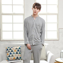 Load image into Gallery viewer, Men's Casual Bamboo Fiber Sleepwear (2 Piece Set) - Meraki Cole Company