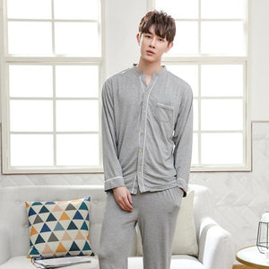 Men's Casual Bamboo Fiber Sleepwear (2 Piece Set) - Meraki Cole Company