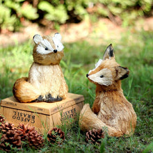 Load image into Gallery viewer, Handmade Straw Fox Home Decoration - Meraki Cole Company