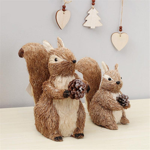 Straw Squirrel Home Decoration - Meraki Cole Company