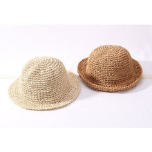 Load image into Gallery viewer, Children's Handmade Folding Beach Sun Protection Hat - Meraki Cole Company