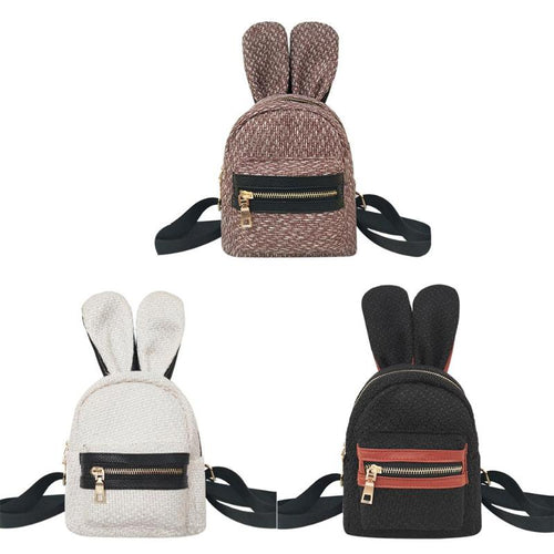 Bohemian Straw Rabbit Ears Backpack - Meraki Cole Company