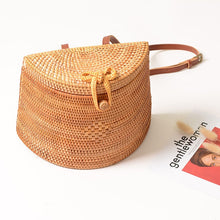 Load image into Gallery viewer, Handmade Woven Rattan Backpack - Meraki Cole Company