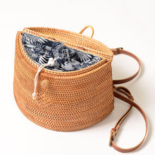 Load image into Gallery viewer, Handmade Woven Rattan Backpack