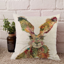 Load image into Gallery viewer, Contemporary Easter Rabbit Throw Pillowcase - Meraki Cole Company