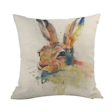 Load image into Gallery viewer, Contemporary Rabbit Throw Pillowcase - Meraki Cole Company
