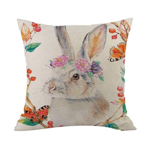 Contemporary Rabbit Throw Pillowcase - Meraki Cole Company