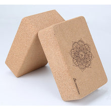 Load image into Gallery viewer, Natural Cork Yoga Pilates Block Set (2 Pieces) - Meraki Cole Company