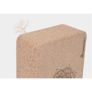 Natural Cork Yoga Pilates Block Set (2 Pieces) - Meraki Cole Company