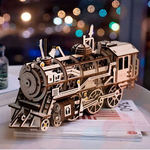 3D Wooden Puzzle Mechanical Train Model - Meraki Cole Company