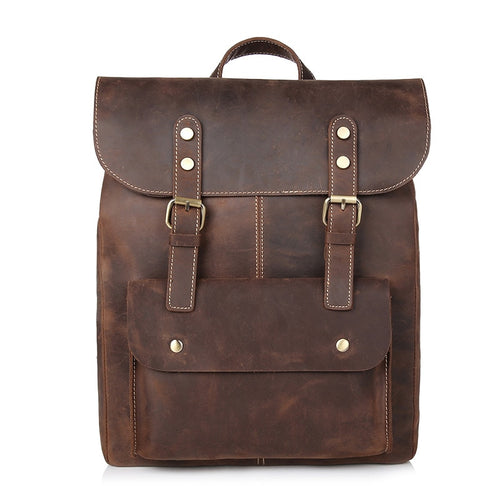 Vintage Leather Travel Backpack - Meraki Cole Company