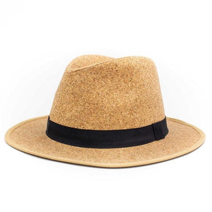 Cork Fedora Hat - 18A natural band - Meraki Cole Company