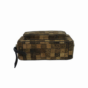 Luxury Vegan Square Pattern Cork Waist Pack
