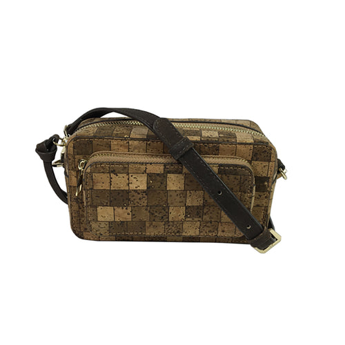Luxury Vegan Square Pattern Cork Waist Pack - Meraki Cole Company