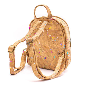 Small Rainbow Cork Backpack