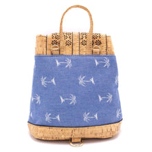 Load image into Gallery viewer, Cork Blue Casual Vegan Backpack