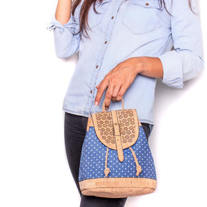 Cork Blue Casual Vegan Backpack