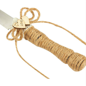 Jute Wedding Serving Set (4 Pieces)
