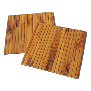 Dark Bamboo Wood Square Placemats (Set of 2) - Meraki Cole Company