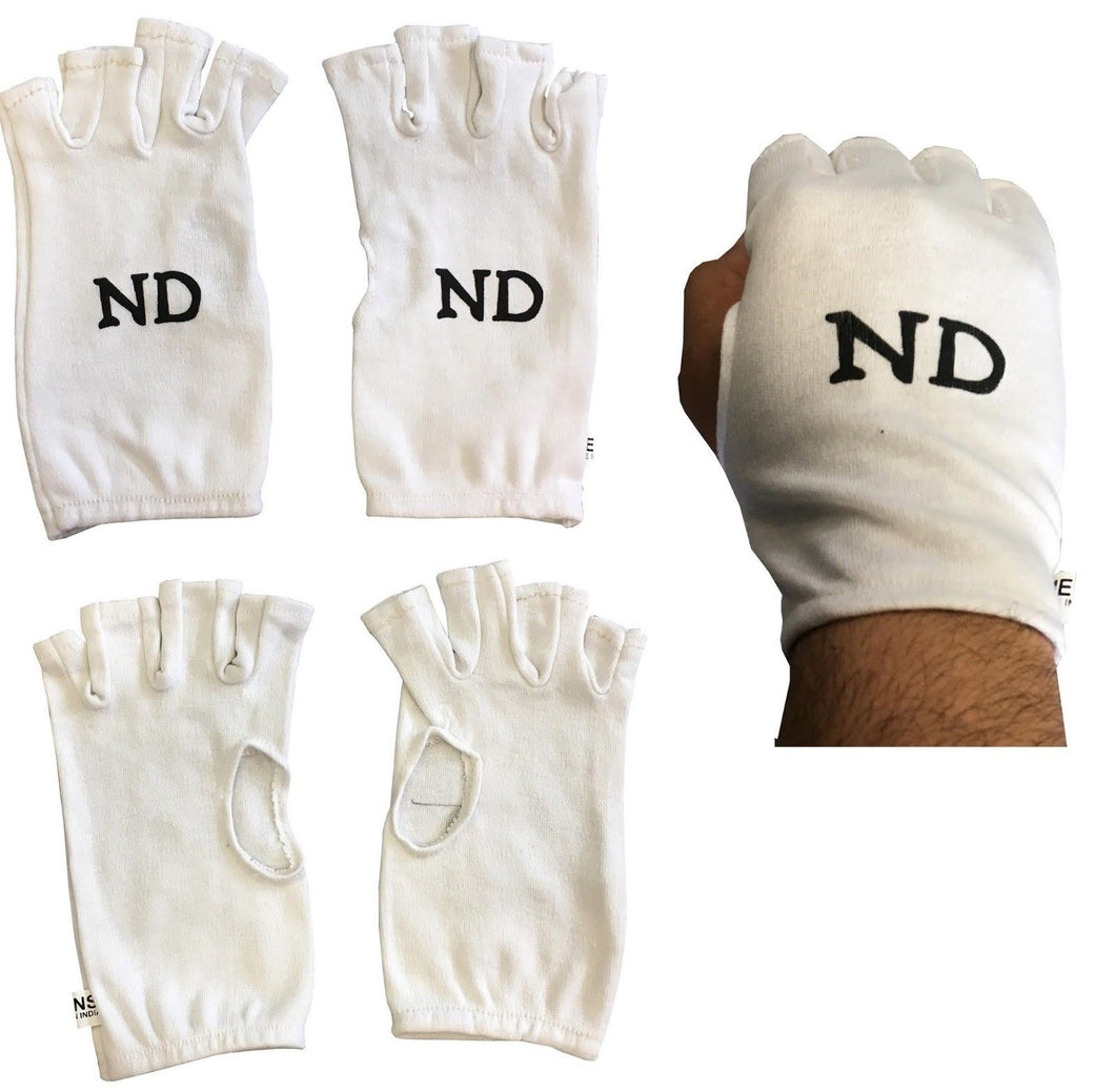 ND Fingerless Cotton Inner Gloves Various Sizes Cricket Inner Gloves Ladies Mens