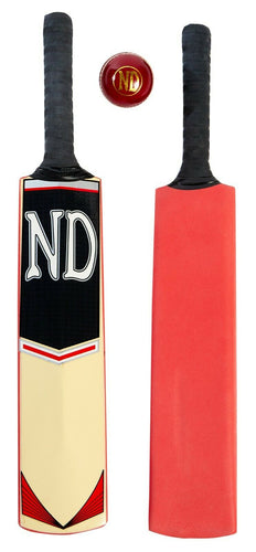 ND Cloud Catcher Light Coaching Cricket Bat & Grade A Ball