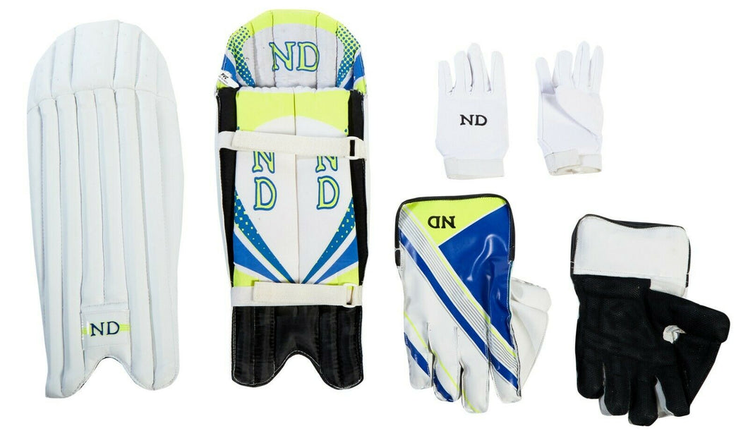ND 2019 Cricket Wicket Keeping Keeper Gloves Pads Inners- Mens Youths Boys