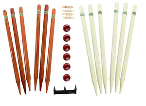 ND Cricket Wooden Stumps Bails Wickets Gauge Balls Set Full Size Coaching Kit