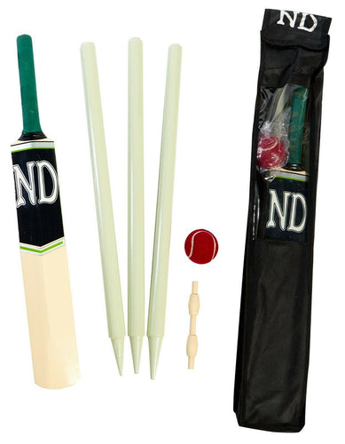ND CHILDRENS JUNIOR SIZE 2 3 4 5 CRICKET BAT SET BALL STUMPS BAILS GARDEN BEACH