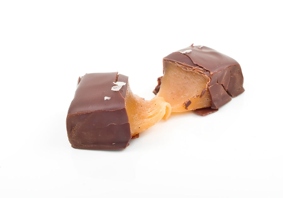 12 PIECE OF MILK CHOCOLATE SALTED CARAMELS