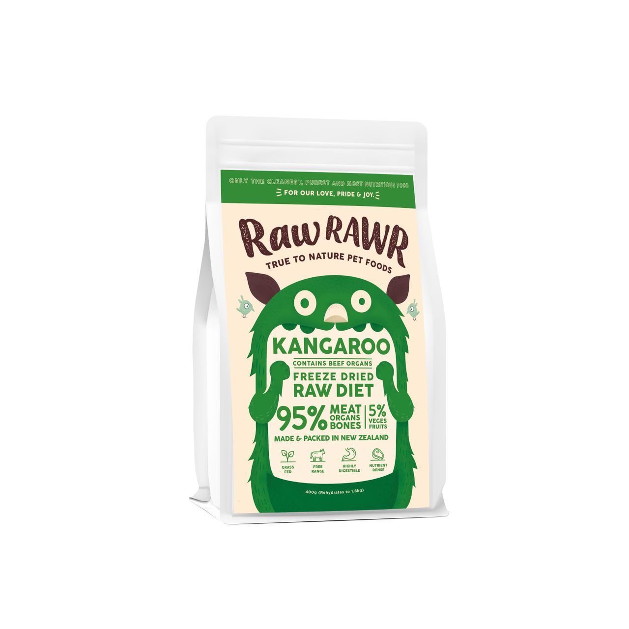 Raw Rawr - Kangaroo (contains beef organs)