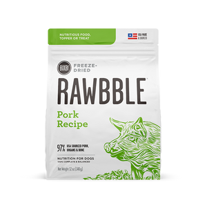 Bixbi - Rawbble Freeze Dried Dog Food (Pork Recipe)