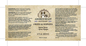 Adored Beast Apothecary - Owies and Oopsies Topical spray