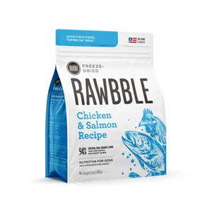 Bixbi - Rawbble Freeze Dried Dog Food (Chicken and Salmon Recipe)