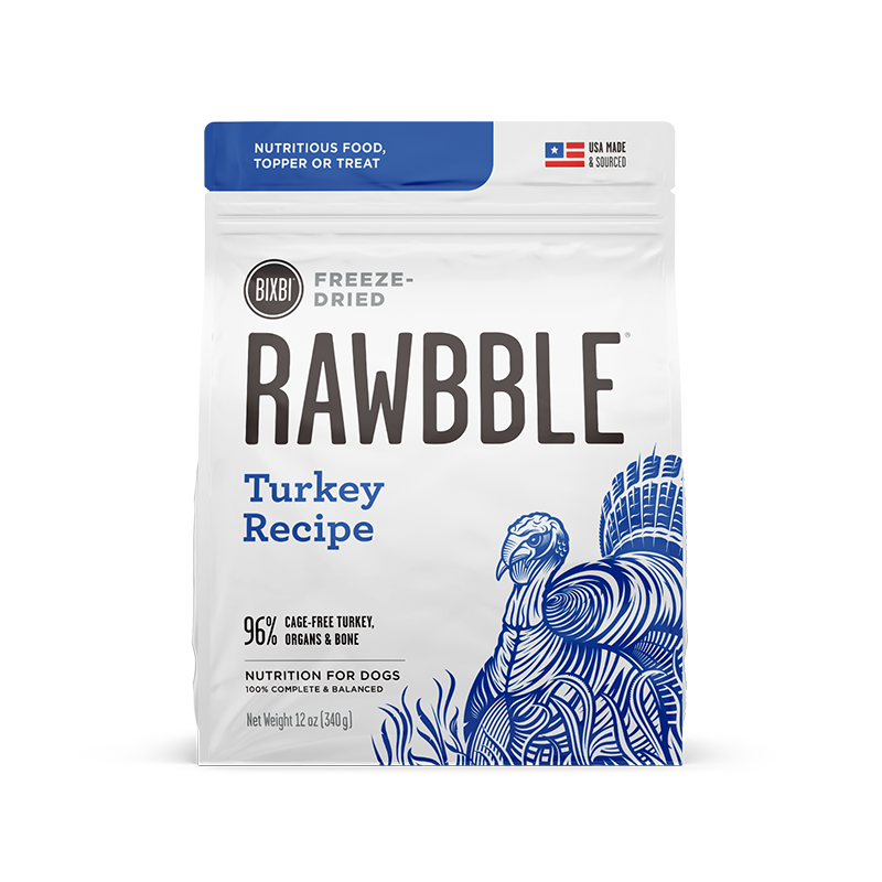 Bixbi - Rawbble Freeze Dried Dog Food (Turkey Recipe)