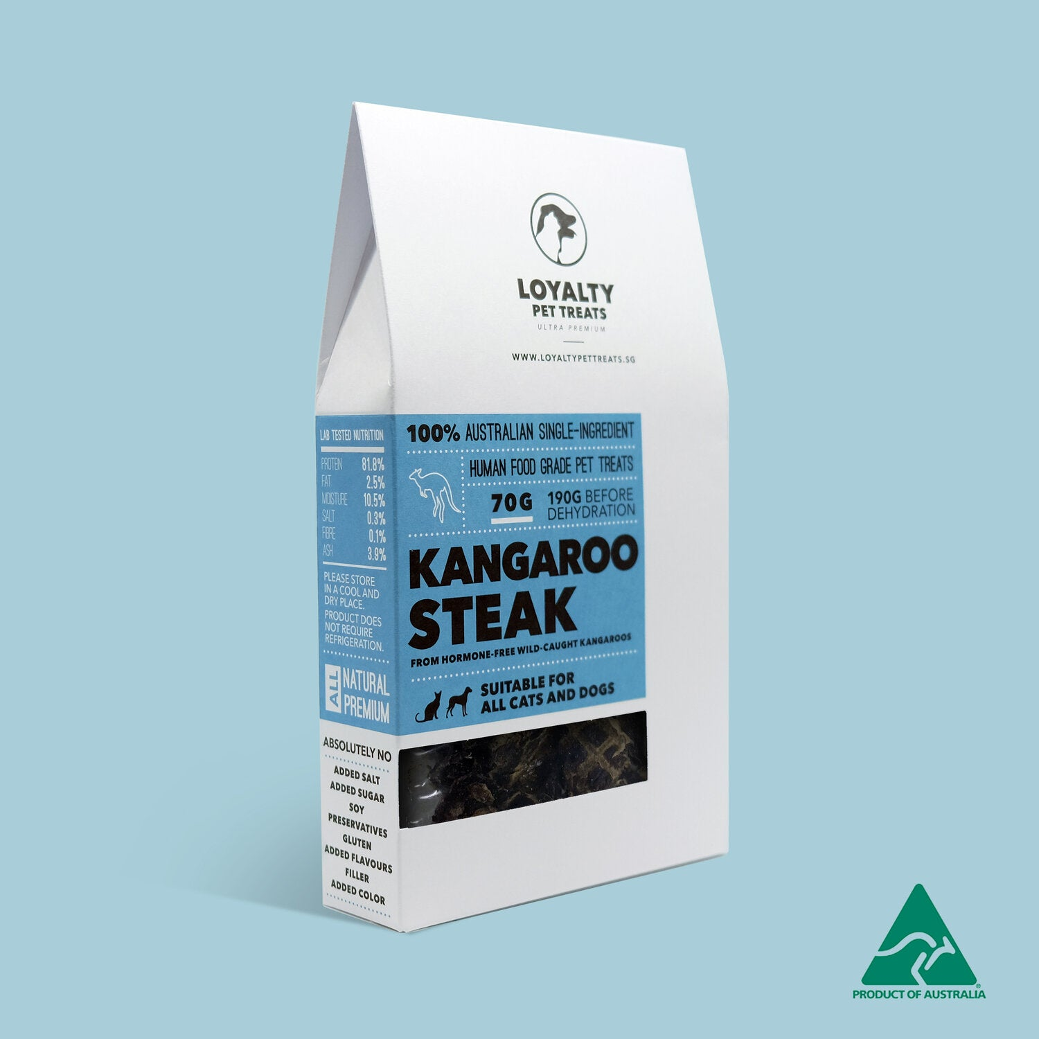 Loyalty Pet Treats - Kangaroo Steak