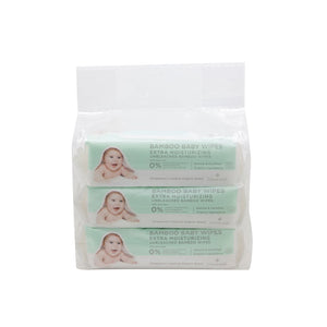 Cloversoft - Unbleached Bamboo Organic Baby Wipes Extra Moisturising (Bundle of 3)