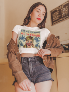Women's 80's Retro Crop Top