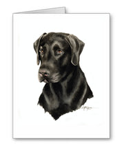 Load image into Gallery viewer, Chocolate Lab Contemporary Watercolor Art Collection by Artist DJ Rogers