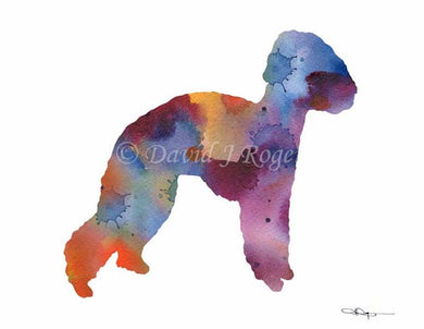 Bedlington Terrier Dog Wall Art Print Poster Picture Painting Decor
