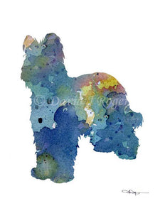 A Briard 0 print based on a David J Rogers original watercolor