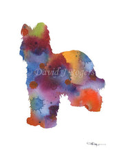Load image into Gallery viewer, A Briard 0 print based on a David J Rogers original watercolor
