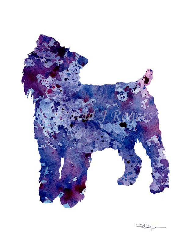 Brussells Griffon Dog Wall Art Print Poster Picture Painting Decor