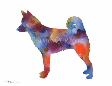 A Canaan Dog 0 print based on a David J Rogers original watercolor