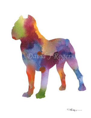 A Cane Corso 0 print based on a David J Rogers original watercolor