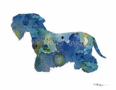 A Cesky Terrier 0 print based on a David J Rogers original watercolor