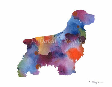 A Cocker Spaniel 0 print based on a David J Rogers original watercolor