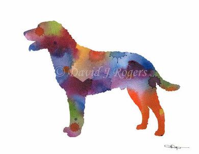 A Curly Coated Retriever 0 print based on a David J Rogers original watercolor